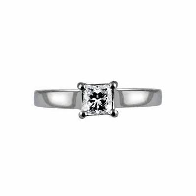 Princess Cut Diamond Solitaire 0.60ct GVS2 IGI